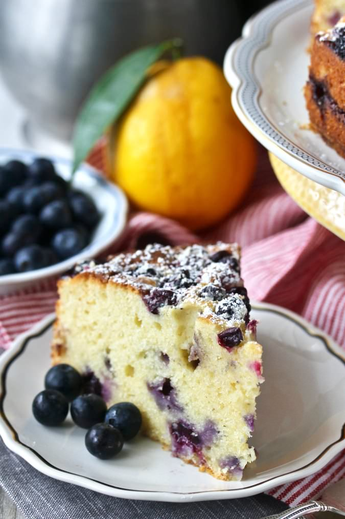 Blueberry Lemon Ricotta Tea Cake
