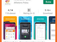 Cara Login Aplikasi ALFATRANS PULSA Langsung di Google Playstore