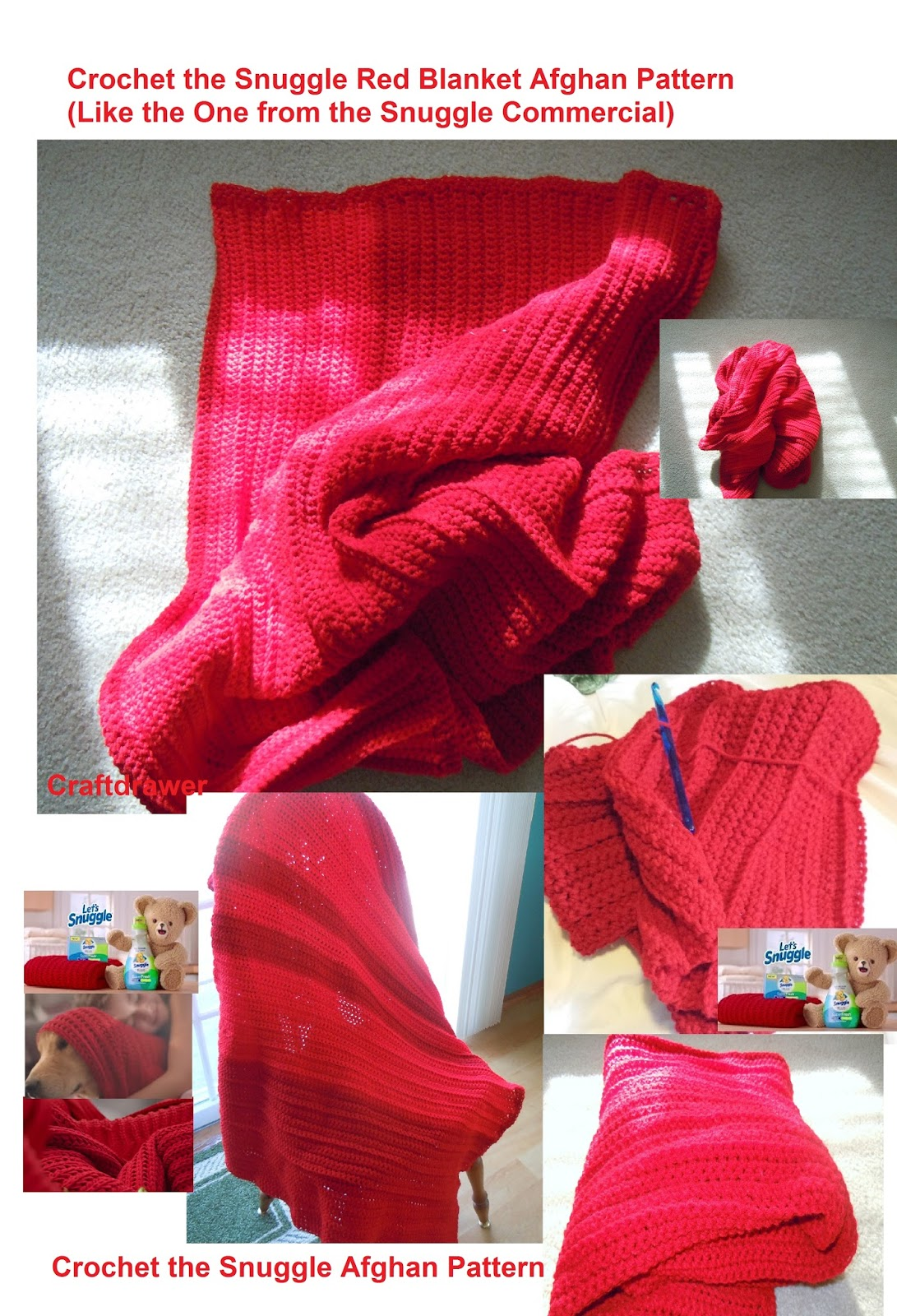 Craftdrawer Crafts: How to Crochet the Snuggle Super Fresh Red ...