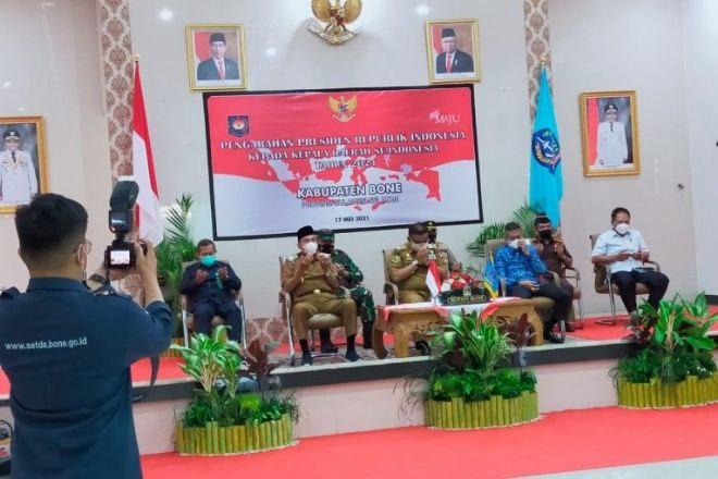 Forkopimda Bone Ikuti Pengarahan Presiden Jokowi