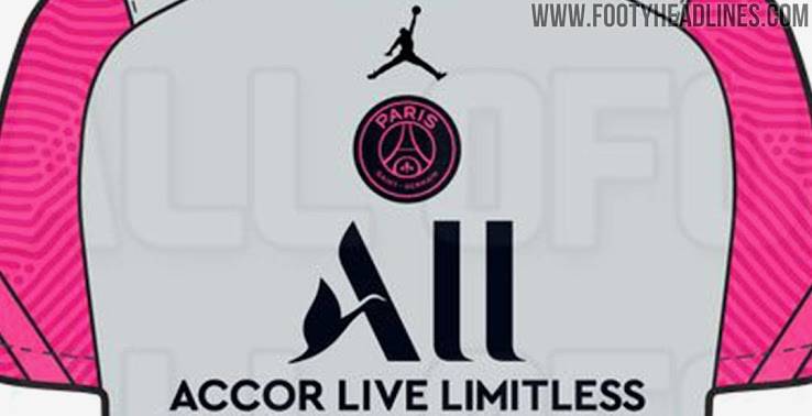 Leaked Jordan Psg 20 21 Fourth Kit To Be Black Hyper Pink Centered Logos Footy Headlines
