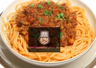 Pasta with tomato and meat sauce