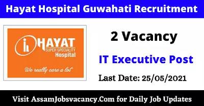 Guwahati Hayat Hospital Recruitment 2021