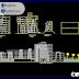 مخطط مشروع فندق 4 نجوم بشكل مميز كاملا اوتوكاد dwg