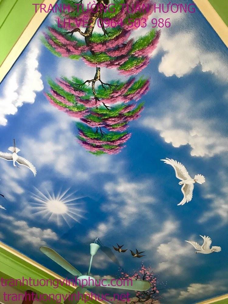 vẽ trần vân mây tại phúc yên
