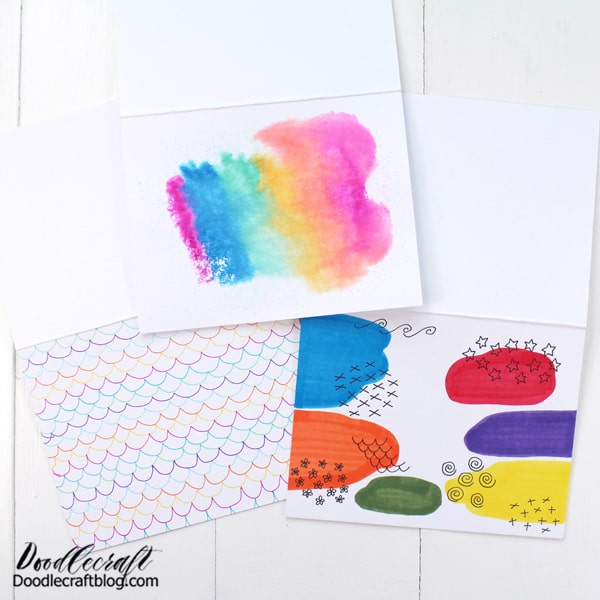 Step 2: Create a Background Make a background on the paper using whichever Tombow products you desire.