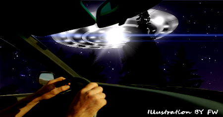 Couple Chased By UFO