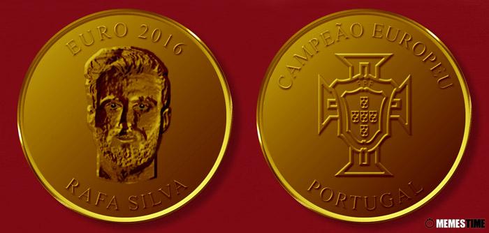 Meme com Medalha Comemorativa da Conquista do Euro 2016 pela Seleção Nacional de Portugal – Rafa Silva