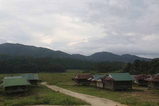 Nhà lúa làm ở trên cao, gần đồng ruộng của người Giẻ ở Đăk Blô