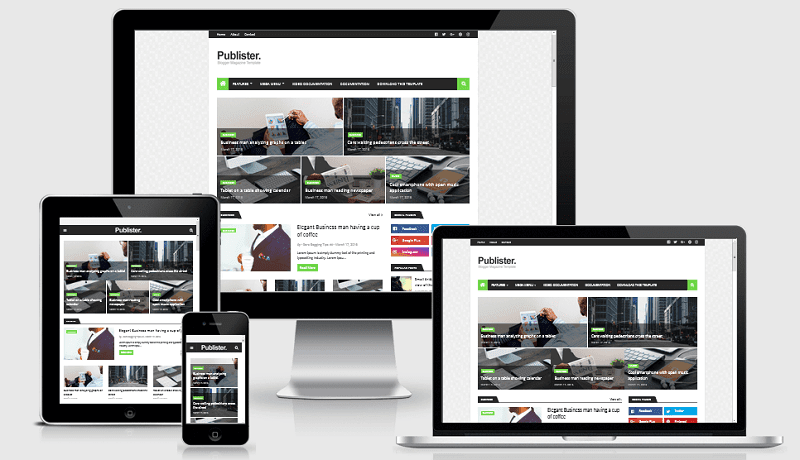 Publister - Responsive Blogger Magazine Template