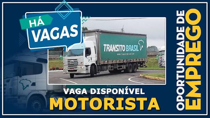 Trânsito Brasil abre vagas para Motorista Truck