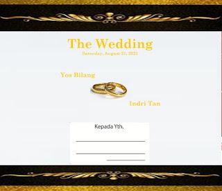 cover undangan pernikahan kristen bahasa inggris