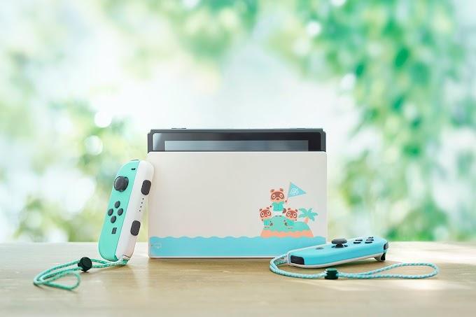 Sorteio de um Nintendo Switch Edição limitada Animal Crossing
