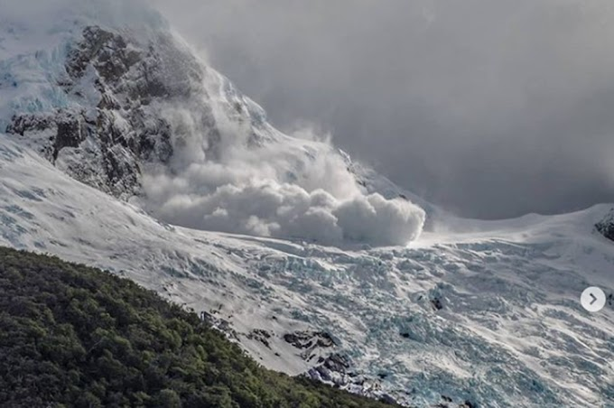 Una avalancha en un glaciar de la Patagonia sorprendió a turistas