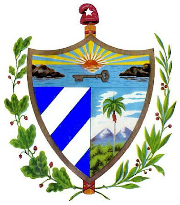 Dibujo de escudo de Cuba para niños