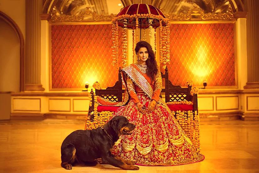 Erum Khan presenting Pakistani bridal dresses Nawabzadi collection forbarat and walima