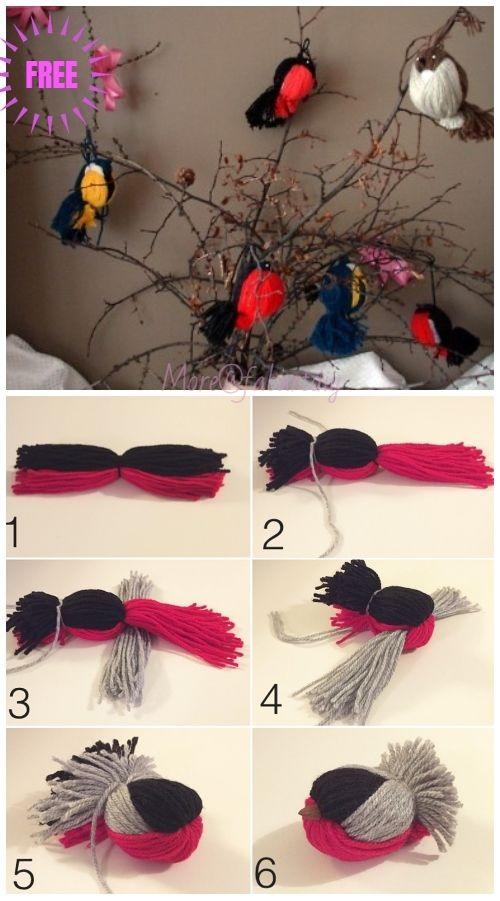 Kids Craft: Fun Yarn Birds DIY Tutorial – Video