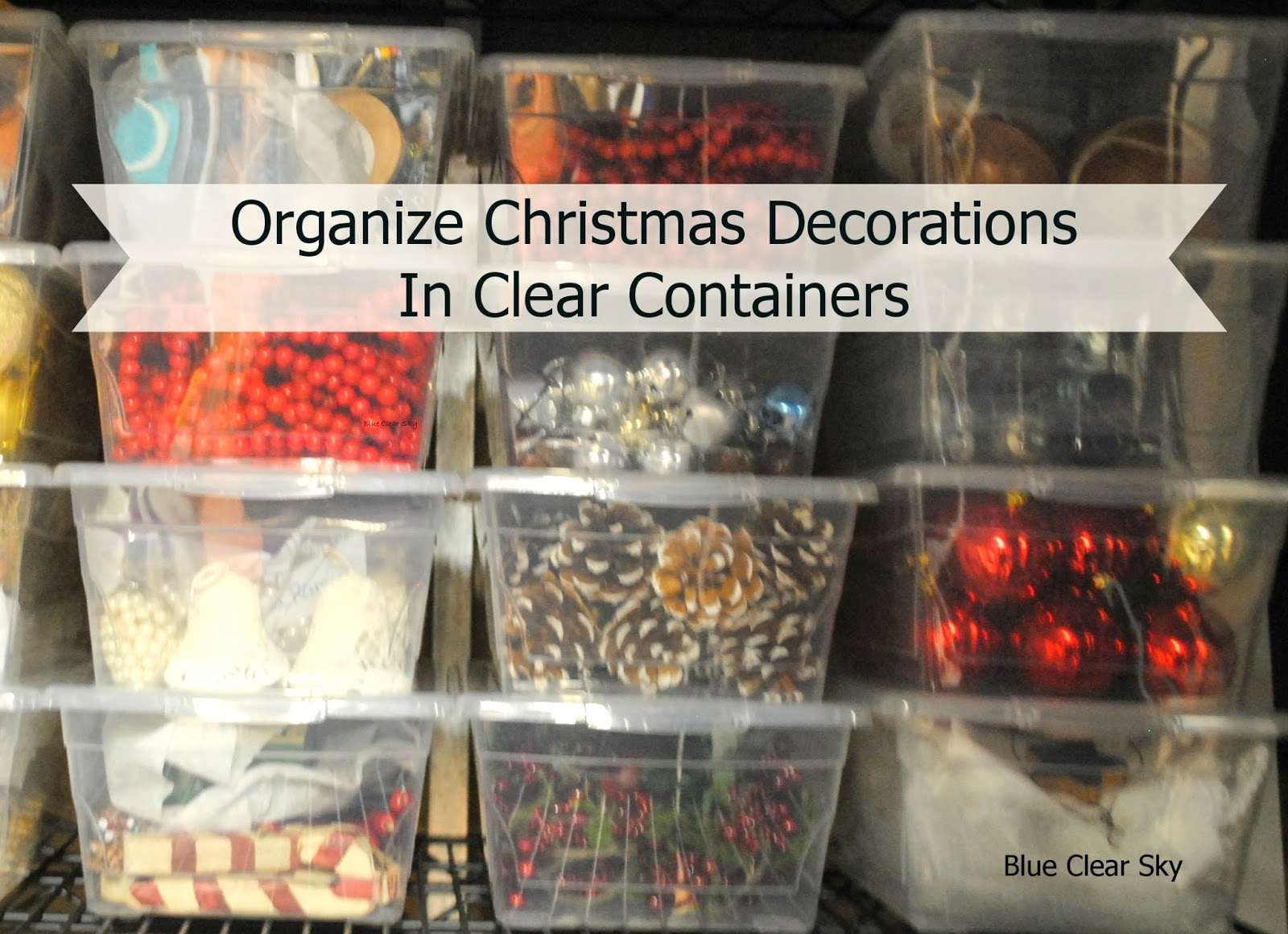 Blue Clear Sky: Organizing cabinet Decorations - Christmasdecorations On Cupboard Top