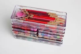 plastic palettes to hold lipsticks, pencils, eyeshadows and other makeup