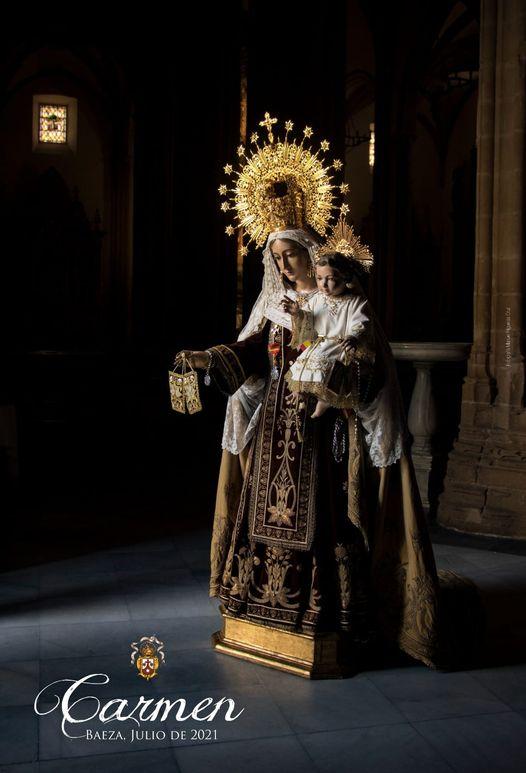 Cartel de la Virgen Del Carmen Baeza 2021