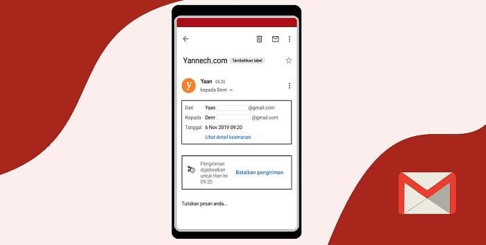 Cara Mengirim Email Secara Terjadwal di Gmail Android