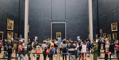 Mona Lisa Louvre Covid