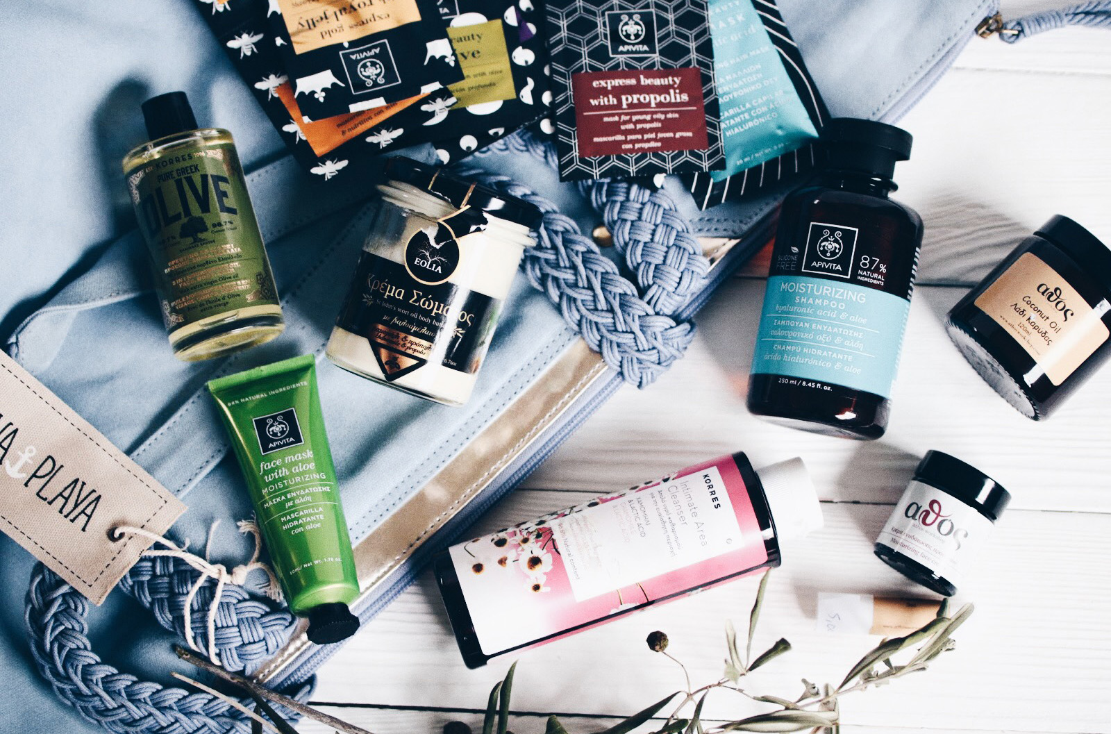 quels produits de beauté cosmetique ramener de grece korres apivita