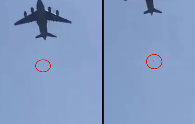 Τραγικές εικόνες στο αεροδρόμιο της Καμπούλ - Αφγανοί πέφτουν στο κενό από αεροπλάνο που απογειώνεται (βίντεο)