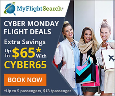 MyFlightSearch Cyber Monday Sale 2019 Details