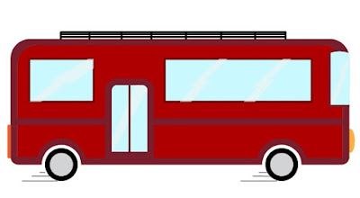 Flat Vector Bus in Adobe Illustrator