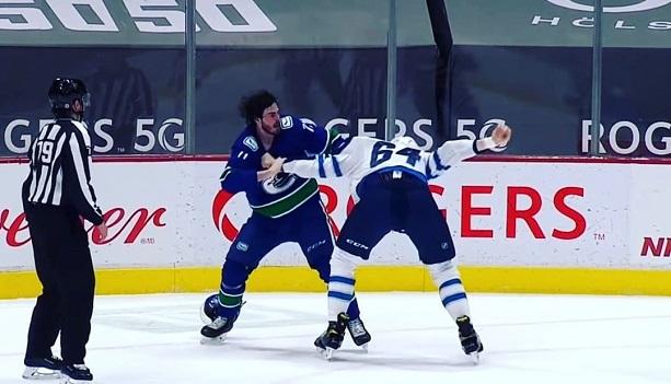 Zack MacEwen Logan Stanley nhl hockey fight