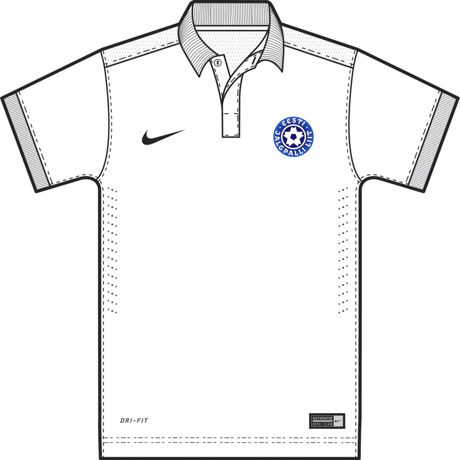 nike swoosh template - nike estonia 2014 15 kits released footy headlines