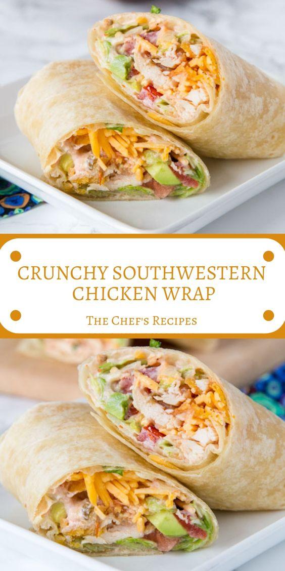 CRUNCHY SOUTHWESTERN CHICKEN WRAP #Crunchy ##Shoutwestern #Chicken #Wrap #Dinner #Easydinner #Deleciousrecipe