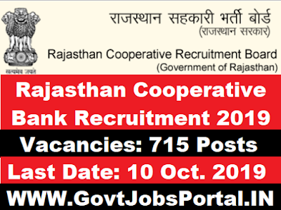 Rajasthan Cooperative Bank Recruitment 2019
