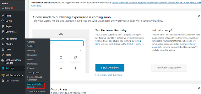 Cara Optimasi WordPress Dengan Plugin Merge + Minify + Refresh