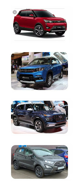 Hyundai Venue vs Ford Ecosport vs Tata Nexon vs Mahindra XUV300 vs Maruti Suzuki Vitara Brezza : Detailed Comparison