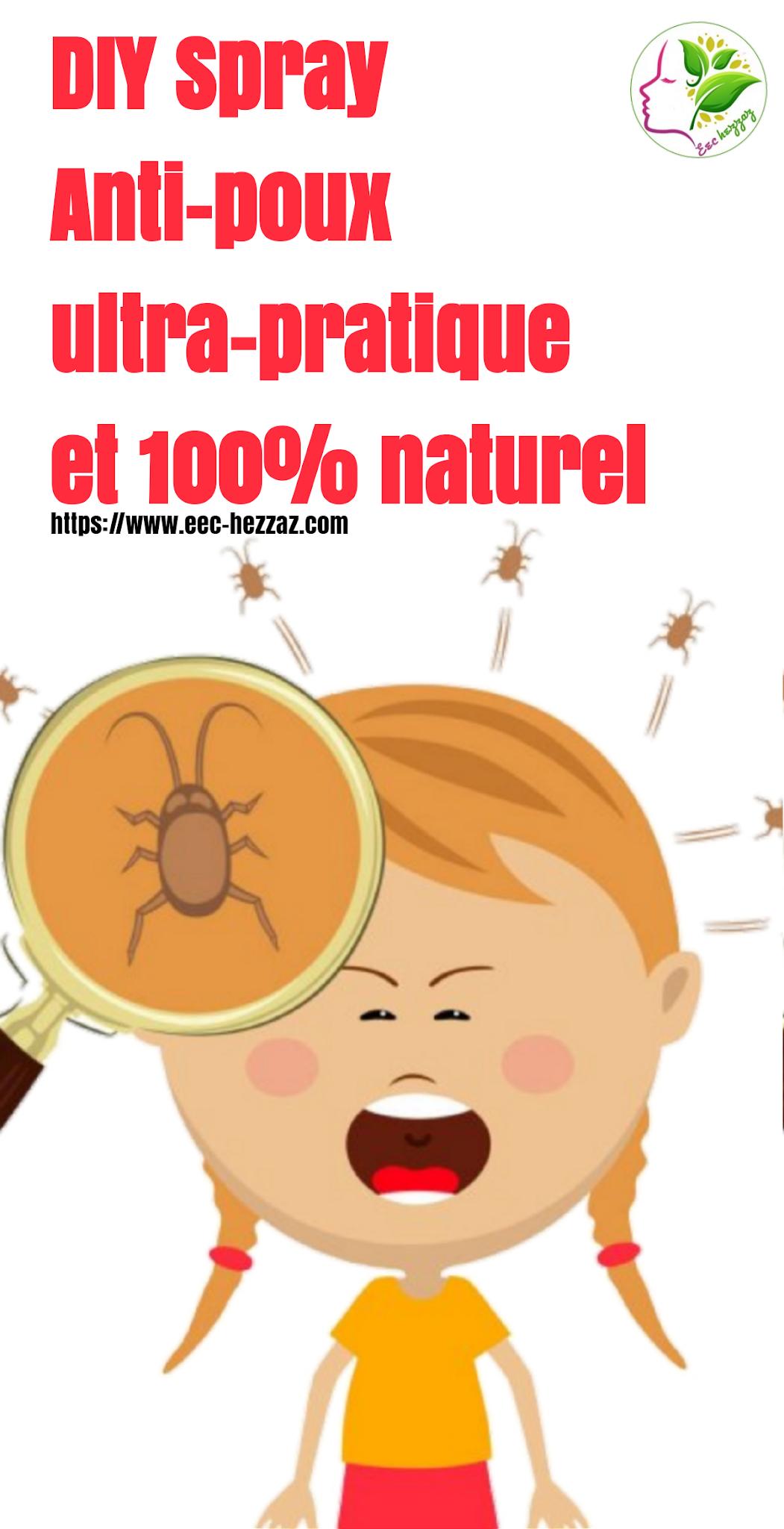DIY Spray Anti-poux ultra-pratique et 100% naturel