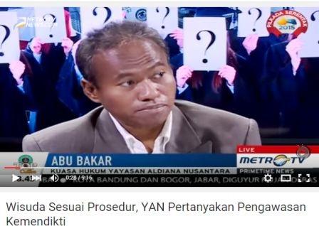 Wisuda Sesuai Prosedur Yan Pert Kan Pengawasan Kemendikti