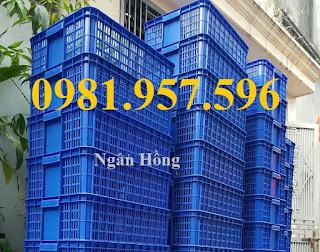 www.123nhanh.com: Sóng nhựa hở Hs009, Sọt nhựa Hs009, Sọt nhựa đựng hải sả