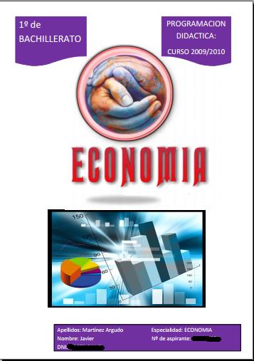 portada programacion didactica oposiciones secundaria economia