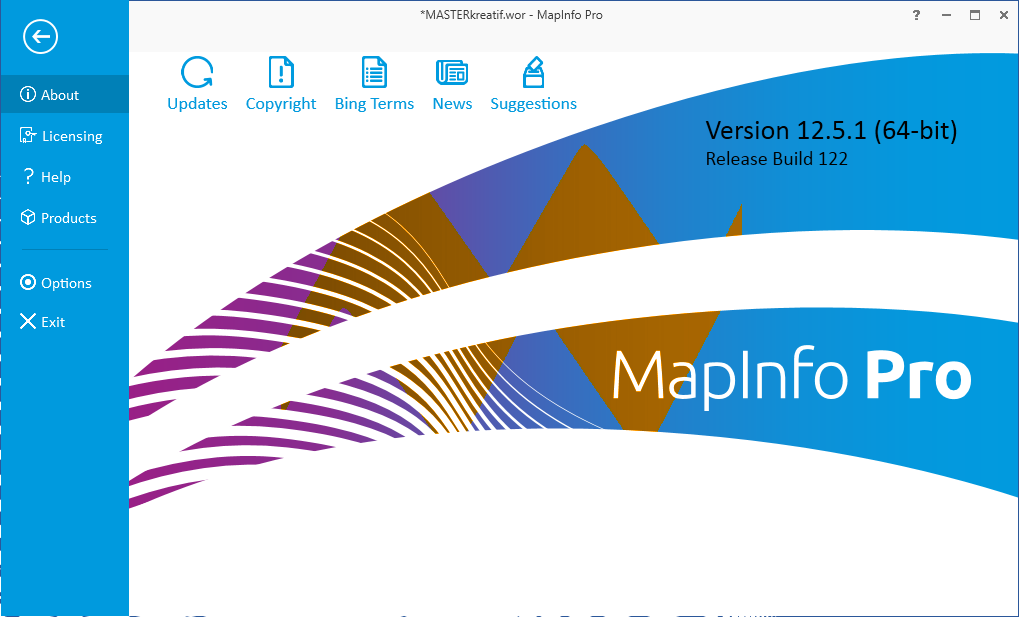 MapInfo Professional v12.5.1