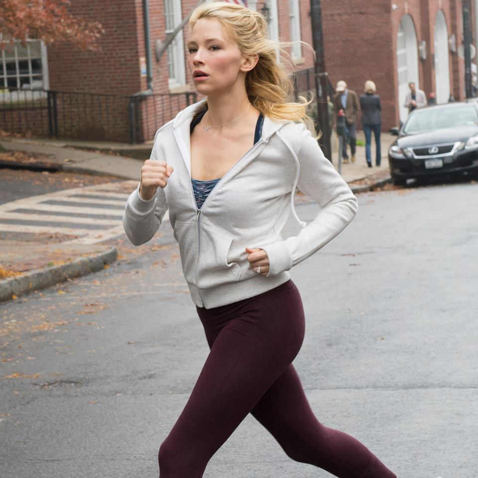 Running train on girl