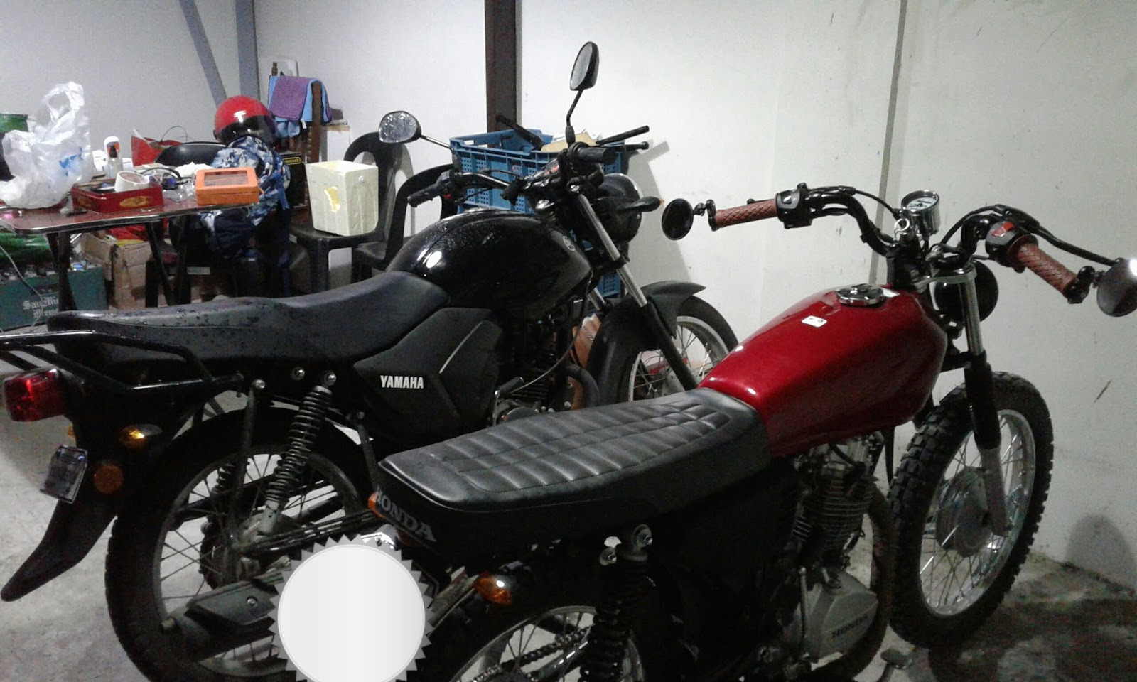 Rainy Day 1 Yamaha Ytx 125 And Tmx Alpha Comparison Kotse Dude Battery Rack Wiring Diagram My Cousin I Recently Bought Bikes Our Ultimate Plan Is To Turn These Into Cafe Racers His Bike A Mine