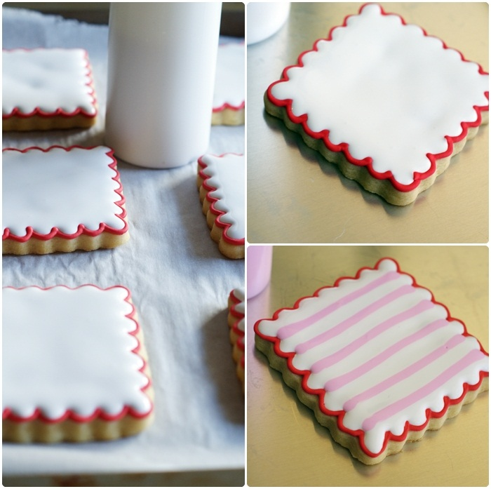 Double-decker, Stripey, Valentine Cookies