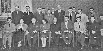 Participantes en el Torneo Internacional de Ajedrez de Venecia 1953