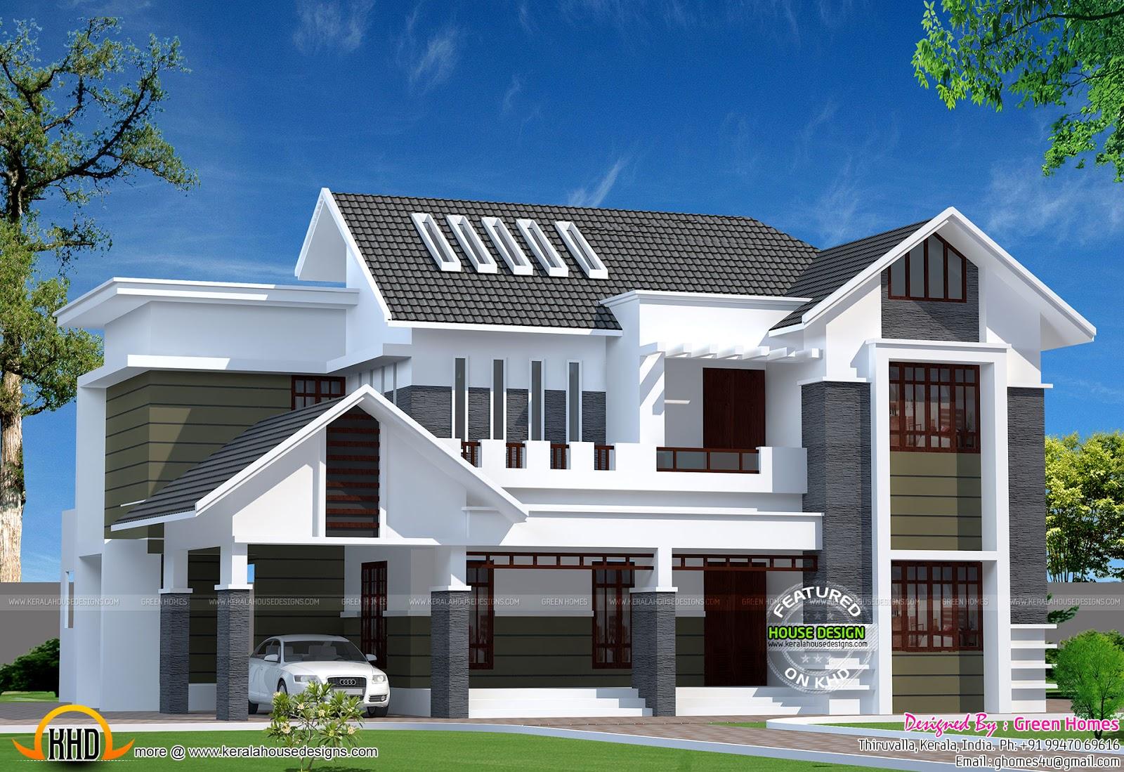 2800 Sq Ft Modern Kerala Home Kerala Home Design And