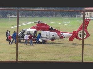 Helikopter APMM Mendarat, Pelajar, Guru Cemas