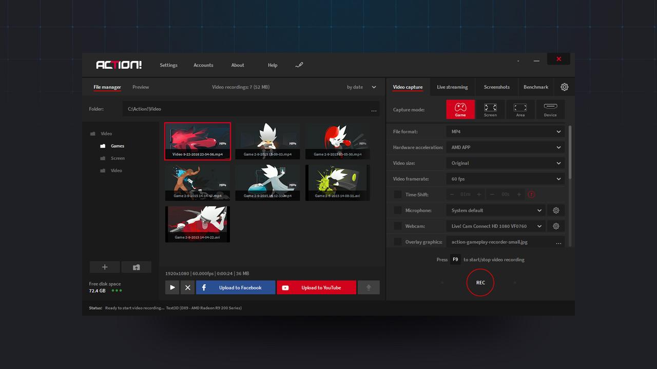 Download Action! – Phần mềm quay màn hình chơi game chuyên nghiệp