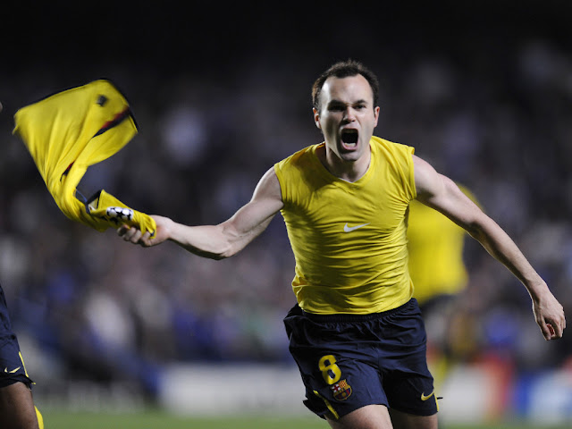 desktop wallpapers 1024x768 free download sport Andres Iniesta Barcelona