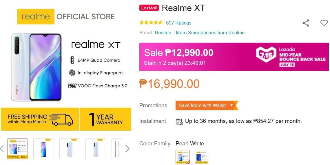 Deal Alert: realme XT will be on SALE this July 15 for Only Php12,990